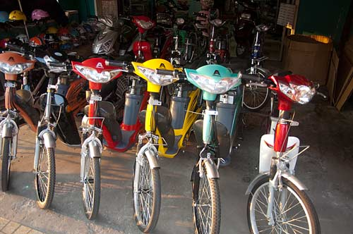 electric bicycles, Ben Tre, Vietnam