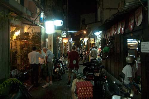 backpacker alley, Saigon, Vietnam