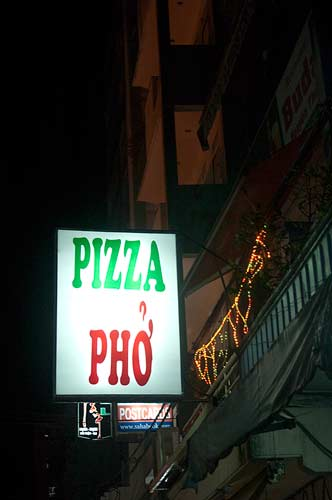 restaurant sign, Saigon, Vietnam