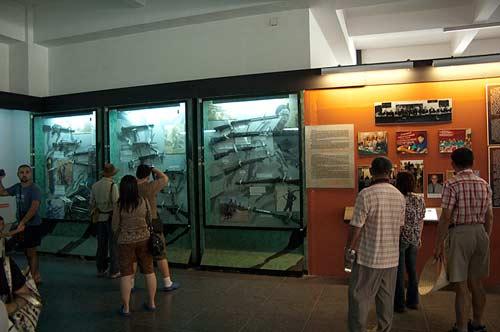 displays, Museum of War Remnants, Saigon, Vietnam