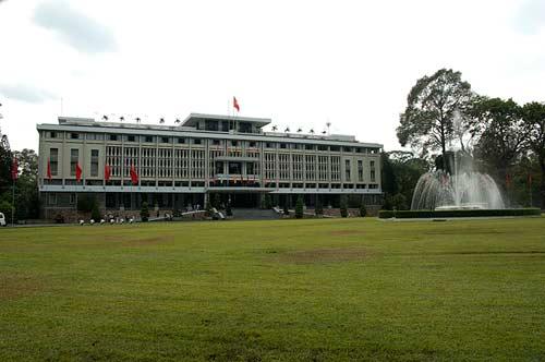 exterior, Reunification Palace, Ho Chi Minh City, Vietnam