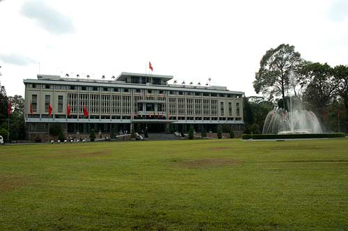 exterior, Reunification Palace, Ho Chi Minh City, Vietnam