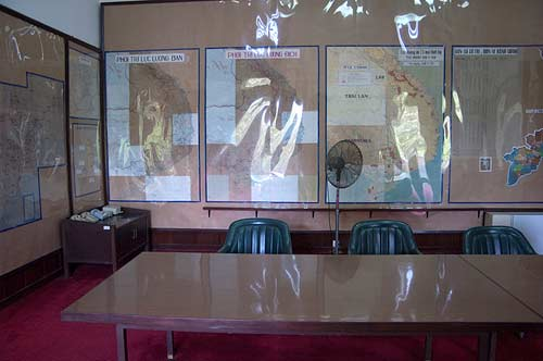 map room, Reunification Palace, Saigon, Vietnam