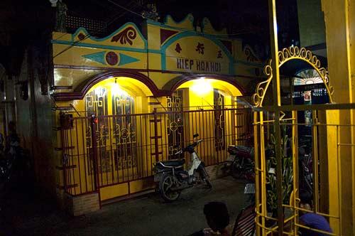 temple in lane, Saigon, Vietnam