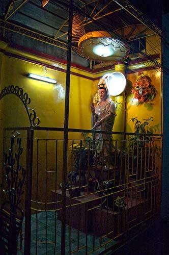 temple statue at night, Saigon, Vietnam