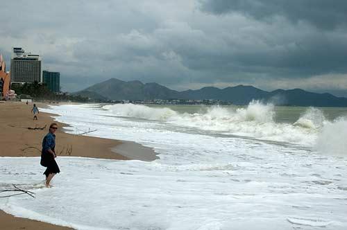 surf on Nha Trang Beach, Vietnam