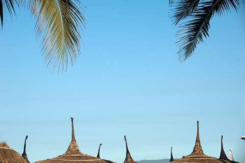 beach umbrellas, Nha Trang, Vietnam