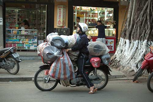 goods on a bike, Hoi An, Vietnam