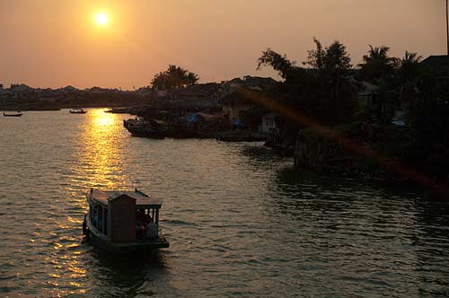 sunset on the Thu Bon River, Hoi An, Vietnam