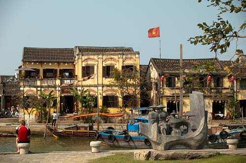 houses along river, Hoi An, Vietnam