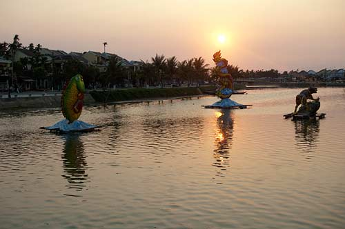 river sculptures, Hoi An, Vietnam
