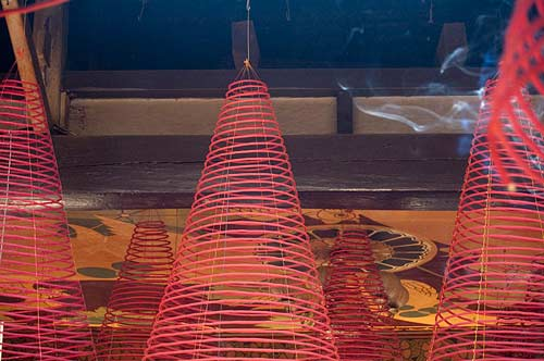 incense coils, Assembly Hall of Fujian Chinese Congregation, Hoi An, Vietnam