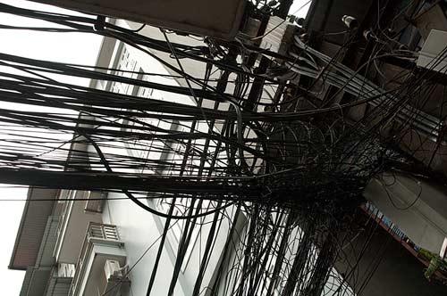 wiring, Hanoi, Vietnam