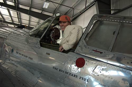Sue in George Maude's P-40