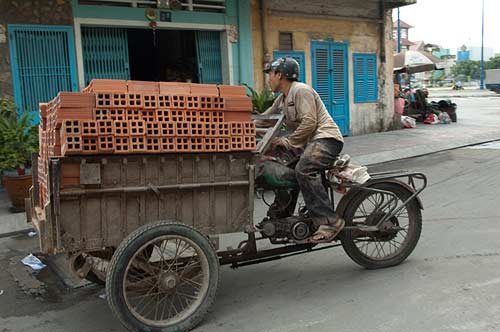 motorcycle mini truck, Saigon, Vietnam