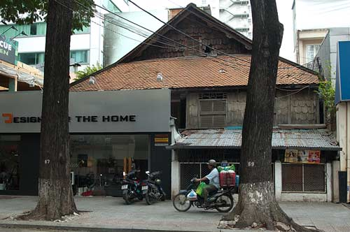 older building, Saigon, Vietnam