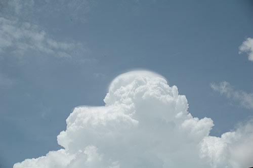 cumulous clouds, Ho Chi Minh City, Vietnam