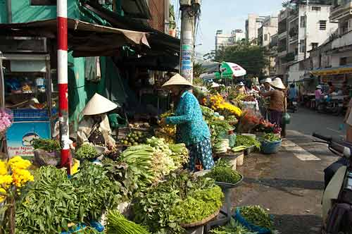 produce vendors, Ho Chi Minh City, Vietnam