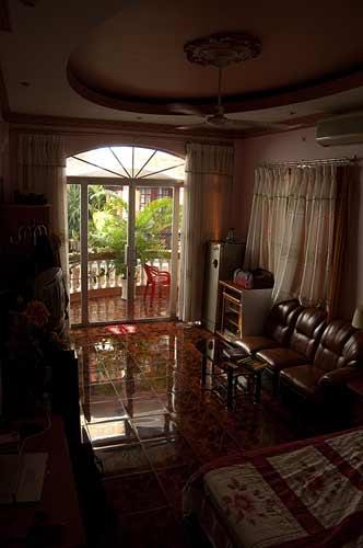 room at Miss Loi's guesthouse, Saigon, Vietnam