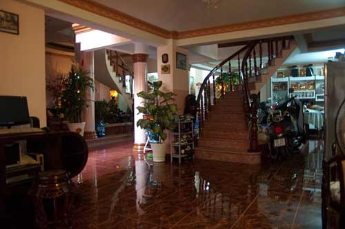 lobby at Miss Loi's guesthouse, Ho Chi Minh City, Vietnam