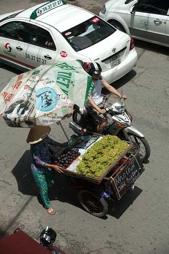 fruit vendor, Ho Chi Minh City, Vietnam