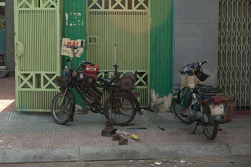 bicycle with sharpening equipment, Saigon, Vietnam