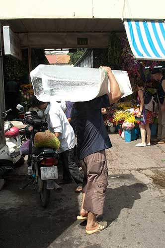 ice delivery, Ho Chi Minh City, Vietnam