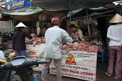 red meat sales, Saigon, Vietnam