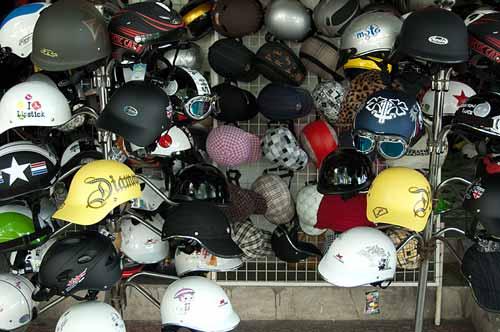motorcycle helmets for sale, Saigon, Vietnam