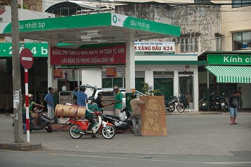 gas station, Ho Chi Minh City, Vietnam