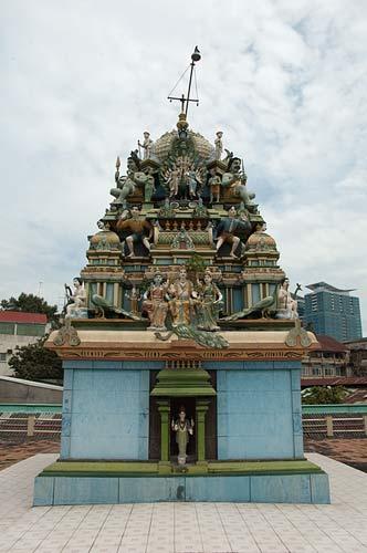 sculpture on roof of Hindu temple, Saigon, Vietnam