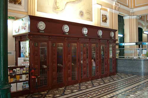 post office telephone booths, Ho Chi Minh City, Vietnam