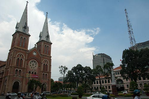 Post Office and Notre Dame Cathedral, Ho Chi Minh City, Vietnam