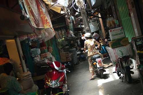small lane, Ho Chi Minh City, Vietnam