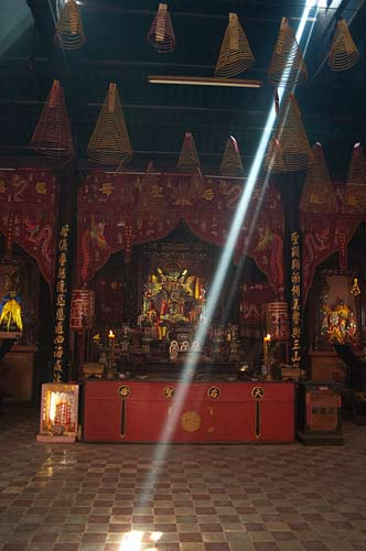 sunbeam in pagoda, Saigon, Vietnam