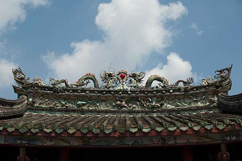 pagoda roof decoration, Ho Chi Minh City, Vietnam