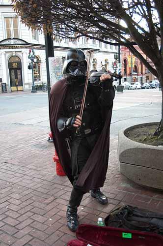 Darth Vader violinist, Victoria, BC