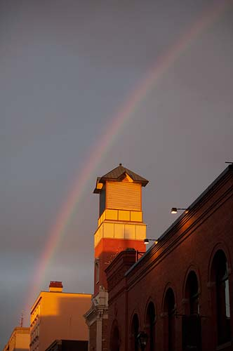 rainbow over old town Victoria, BC