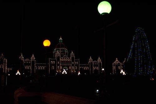 Christmas decorations of Legislature Buildings, Victoria, BC