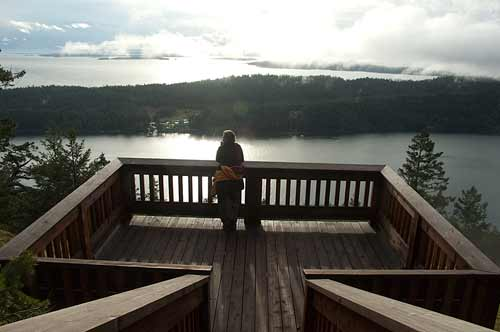 lookout on Mt. Norman, Pender Island, BC