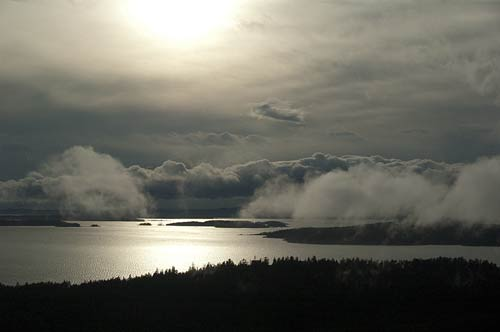 view from Mt. Norman lookout, Pender Island, BC