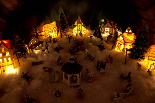 Christmas village, Rocky Mountain House, Alberta