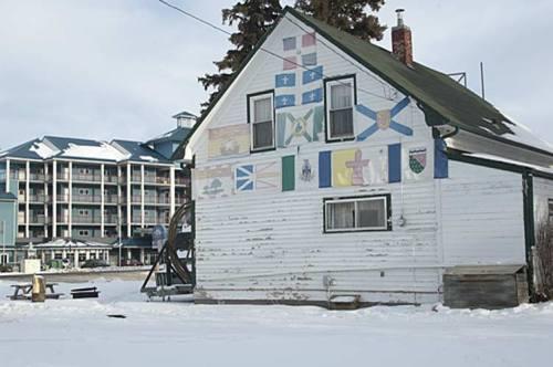 old and new, Sylvan Lake, Alberta