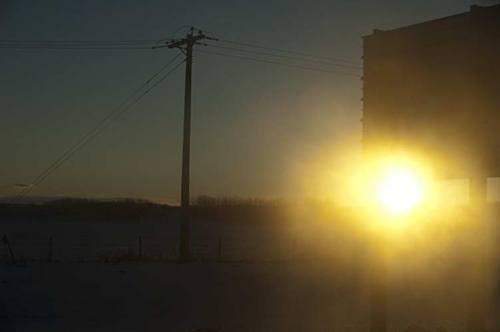 sunrise outside Calgary, Alberta