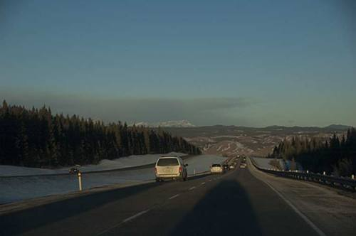 winter foothills, Alberta