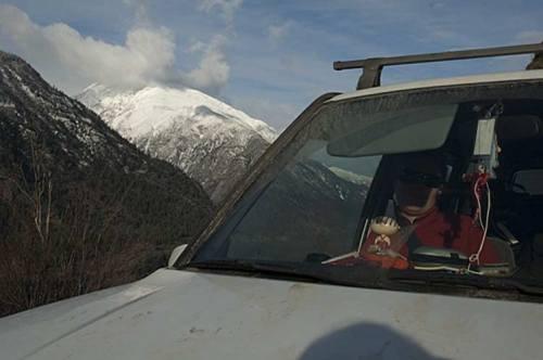 Stewie and Suzuki in Fraser Canyon, BC