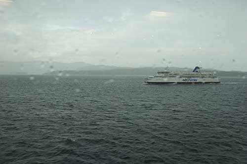 view from one BC Ferry to another