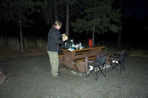 making dinner at the Skihist BC Provincial campground, outside Lytton, BC