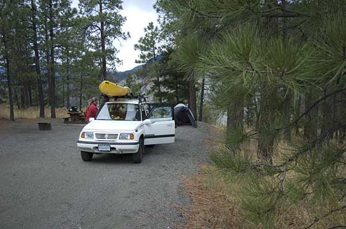 campsite at Skihist campground