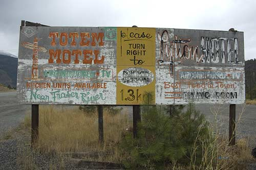 old billboard outside Lytton, BC